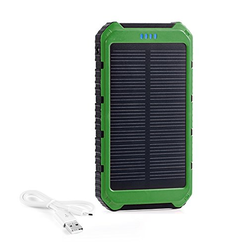 Fkant 10000mah Portable Solar Phone Charger External