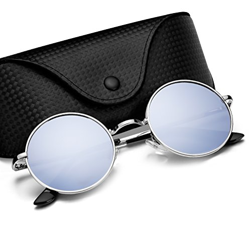 Menton Ezil Round Retro Polaroid Sunglasses Driving Glasses Hippie Vintage - Sunglasses Collection Men