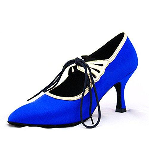 33 Chaussures Tango 5CM Femmes Blue Latine Cadeaux LEIT Danse YFF Dance Danse Dance 7 6OnAH8z