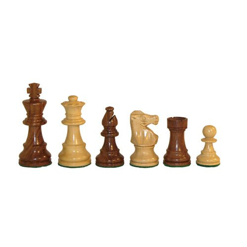 - Sheesham and Boxwood Double Weight Chess Pieces