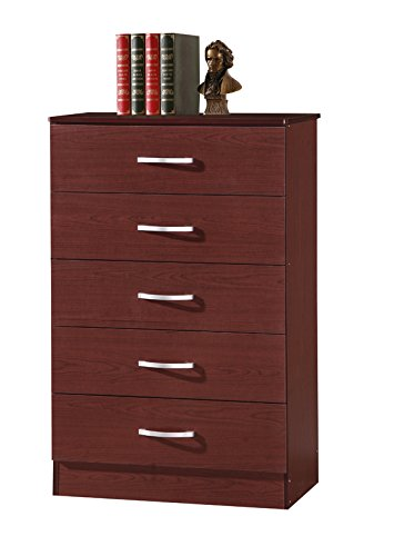 HODEDAH IMPORT 5-Drawer Chest, Mahogany