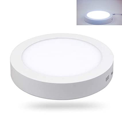 100% authentic 59815 1ac39 LED Ceiling Light Surface Mounted Round Panel Light 6W 6500K ...