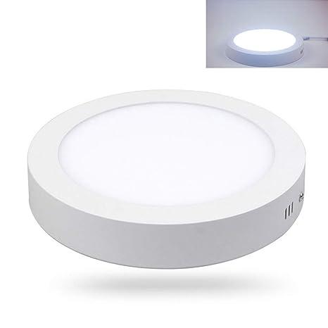 MOOUK Lámpara de Techo LED Panel Downlight Redondo Plafón Downlight Lampara Blanco Frío Superficie Montado LED Lámpara de Techo para Cocina, Comedor, ...