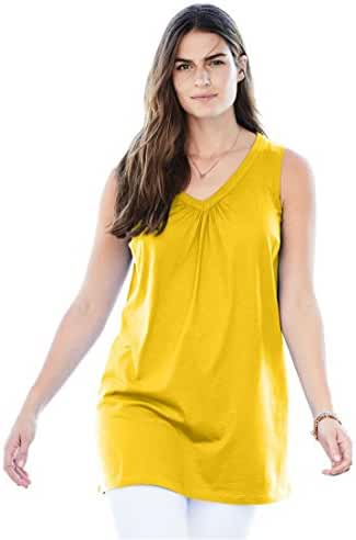 Women's Plus Size Top, Perfect Tunic, Sleeveless