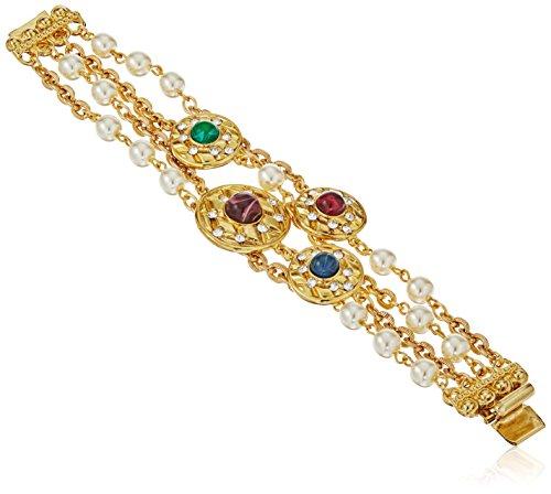 Ben-Amun Jewelry Dutchess Swarovski Crystal Glass Pearl a...