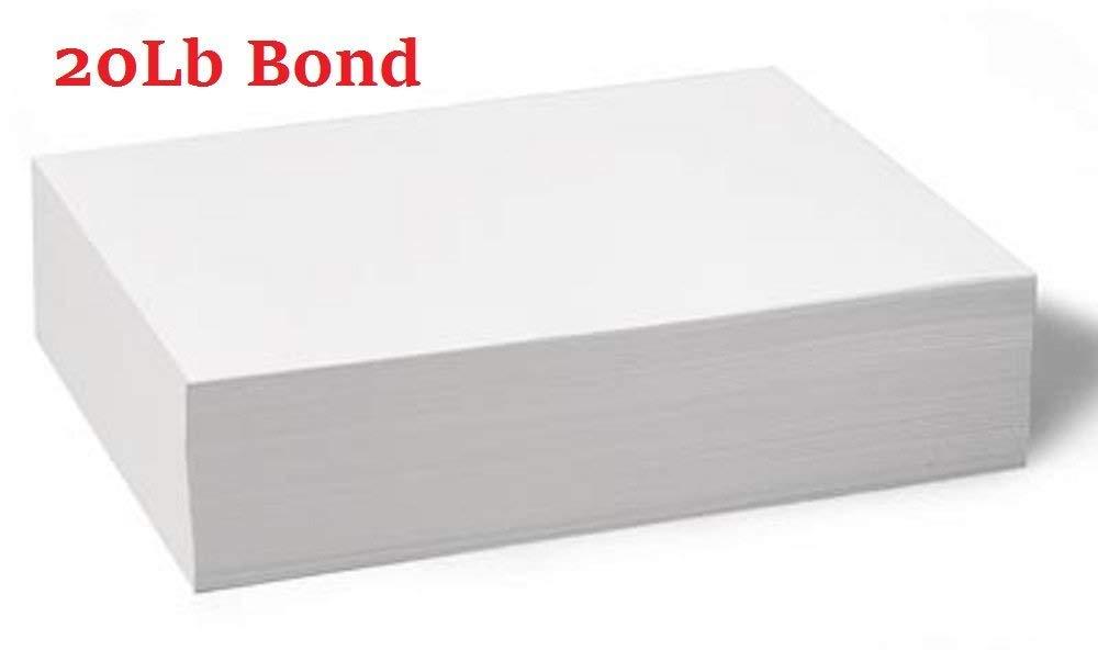 Half Letter Size Paper 5.5'' x 8.5'' 20lb Plain Paper - 500 Sheets