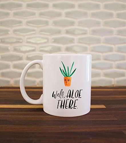 Thumb Pop Green (CASURI - Well Aloe There Mug, Succulent Gift, Fun Mug, Funny, Plant Lover Gift, Green Thumb, Typography Mug, White Mug, Coffee Lover Gift, Gardener MUG 15oz)