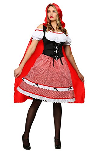 Plus Size Knee Length Red Riding Hood Costume 2X