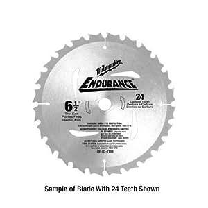"CRL Milwaukee 6-1/2"" Heavy-Duty 40 Carbide Teeth Circular Saw Blade by CR Laurence"