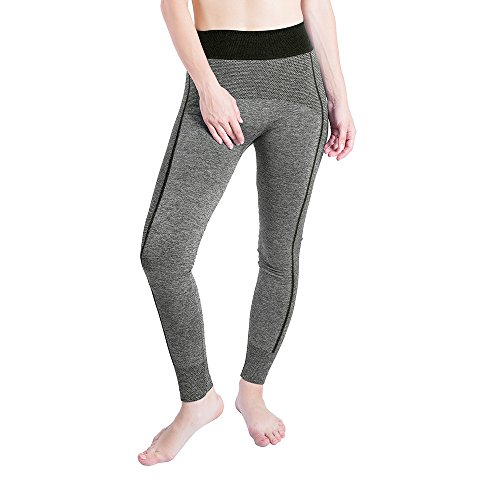 iLUGU Women Gym Yoga Patchwork Sports Running Fitness Leggings Pants Athletic Trouser(S,Black-11) by iLUGU (Image #5)