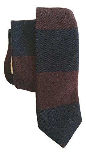 Burberry London Euston Navy Striped Skinny (Burberry Necktie)