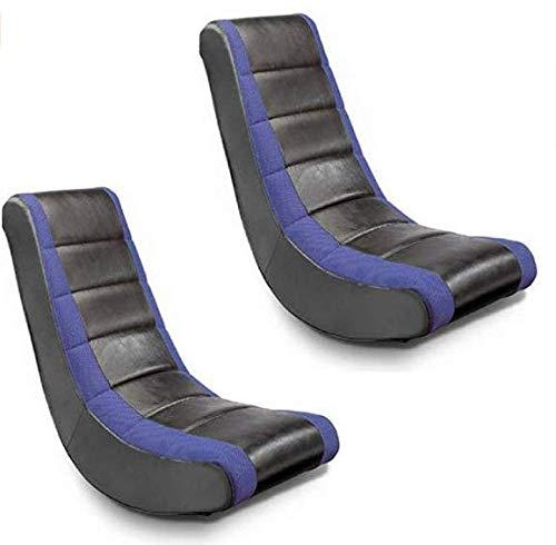 Crew Furniture 51208 Classic Video Rocker Black/Blue, Set of