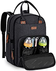Diaper Bag Backpack for Mom/Dad Multi-Function Travel Backpack Baby Changing Bags with Insulated Pockets, Changing Pad, Stroller Straps