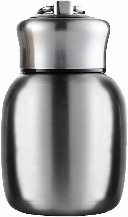 Mini-Tasse Isotherme Portable en Acier Inoxydable avec Ventouse pour Enfants Silver ypypiaol Kids Thermo Water Bottle 200ml