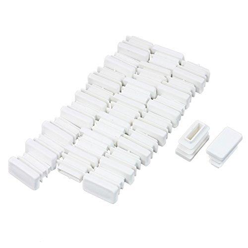 24 Pcs 10mmx20mm Plastic End Caps Rectangle Tubing Tube Insert White 0.75' Plastic Cap