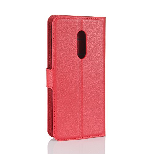 Case Alcatel Cover Wallet Protective Case Protective Alcatel Flip Casefirst A7 Red Shell with Leather A7 RUcaq1