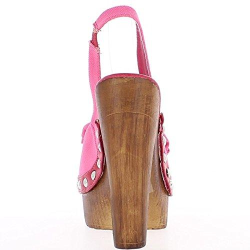 14cm tacco di Rosa vassoio a nodo con e sandali pqE7I