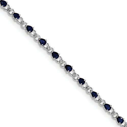 Sterling Silver Sapphire and Diamond Bracelet by CoutureJewelers