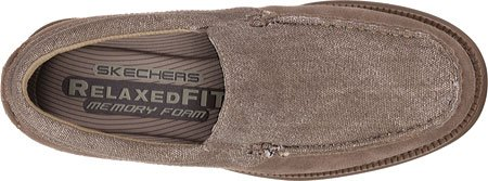 Skechers Usa Mens Volte Stand Slip-on Mocassino In Pietra