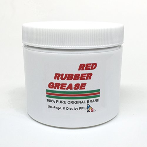 Spec Seal - 114 gm / 4 oz. 100% PURE GENUINE CASTROL RED RUBBER GREASE, for Brake Caliper Piston Seals and Boots, Corrosion and Oxidation Resistant, Meets Lucas Girling TS-2-34-04 spec.