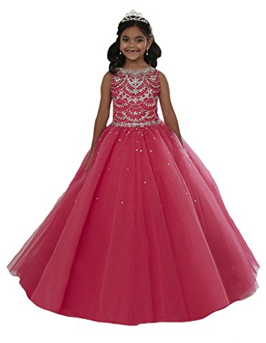 GreenBloom Crystal Girls' Pageant Dress 2 US Pink