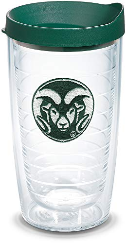 Tervis 1084928 Colorado State Rams Logo Tumbler with Emblem and Hunter Green Lid 16oz, Clear ()
