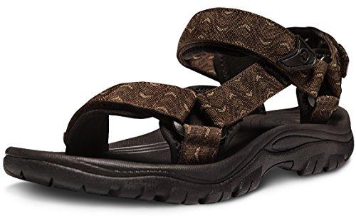 ATIKA Men's Sport Sandals Maya Trail Outdoor Water Shoes, Maya(m111) - Wave Brown, 12