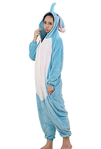 Small Pièces Pour Halloween Pyjama Combinaison Anime De Unisexe Rose Carnaval Hommes Cosplay Convient Noël Costume Femmes Déguisement Adulte Vêtements Éléphant Grenouillère EHaI0