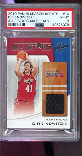 2010-11 Panini Season Update All-Star 10 Dirk Nowitzki Game-Used Jersey Card - PSA/DNA Certified - Basketball Game Used Cards