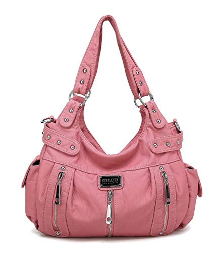 Scarleton Satchel Handbag for Women, Ultra Soft Washed Vegan Leather Crossbody Bag, Shoulder Bag, Tote Purse, H1292
