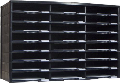 Storex 24-Compartment Literature Organizer, 31.38 x 14.13 x 20.5