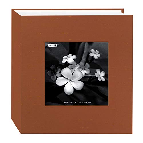Pioneer Photo Albums 100 Pocket Copper Silk Fabric Frame Cover Photo Album for 4 by 6-Inch Prints