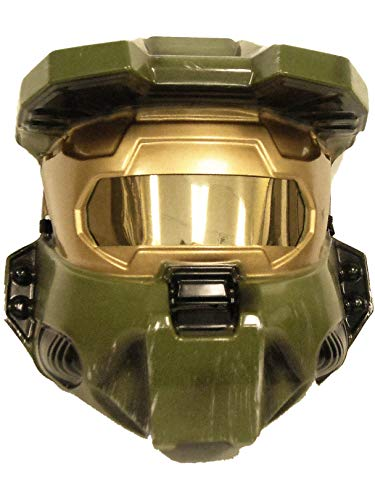 Halo Master Chief Costume Vacuform Half-Mask, Green, One Size -
