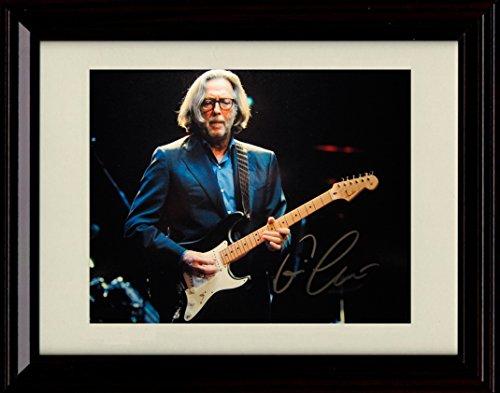 Framed Eric Clapton Autograph Replica Print