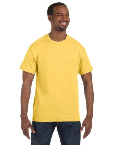 (JERZEES Adult Dri-Power Heavyweight Blend T-Shirt , Large, Island Yellow )