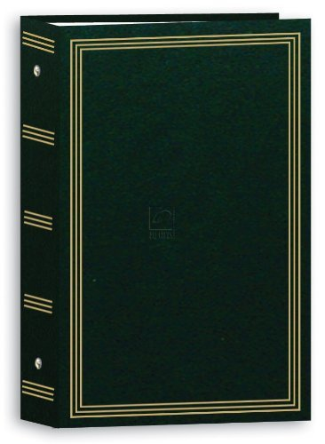 Pioneer Photo Albums Pocket 3-RING Album 4X6 3-UP 504 Photo Hunter Green - Two P by Pioneer Photo Albums