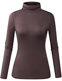 Women Modal Lightweight Sleeveless Long Sleeve Turtleneck...