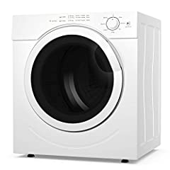 Description:  Costway compact laundry dryer constructed with high quality stainless steel and a window, it is durable and sturdy for a long service life. In addition, this front-loading clothes dryer fits neatly in any small space while still...