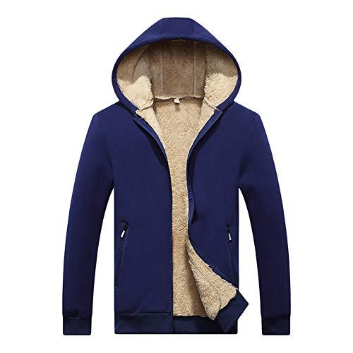 Giacche Giacche Giacche Foderato con Invernale Caldo Cappuccio Blu Parka Cappotto Uomo Uomo Uomo Uomo Giacca GladiolusA Cappotti xwC77v