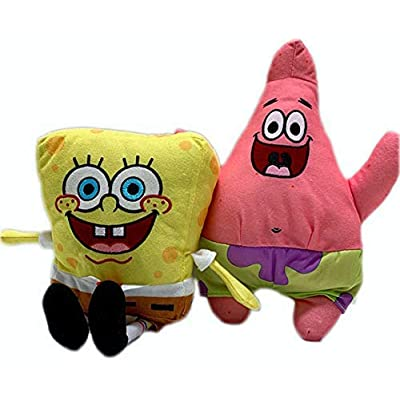 Spongebob and Patrick Stuffed Plush Doll Toy Set Gift Kids Boys Girls (Patrick): Toys & Games