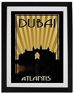 Atlantis - Sepia F06-m (a3) - Framed