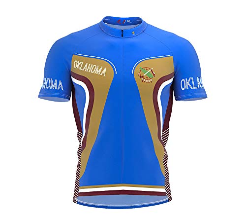 (ScudoPro Oklahoma Bike Short Sleeve Cycling Jersey for Men - Size 2XL)