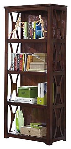Ashley Furniture Signature Design - Devrik Bookcase - 4 Shelves - Curved Side Crossbars - Contemporary - - Design 4 Shelf