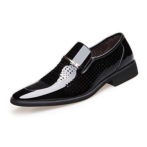 Xiaojuan-shoes, Scarpe da lavoro formali da uomo PU Leather Slip-on Smooth Fodere traspirante con fodera foderata,Scarpe Uomo Pelle (Color : Marrone, Dimensione : 44 EU) Nero