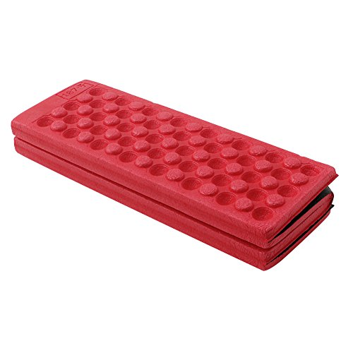 Arich Protable Foldable Outdoor Foam Seat Pad - Built for Backpacking, Camping, Hiking, Hammocks, Tents, and More! (Red)