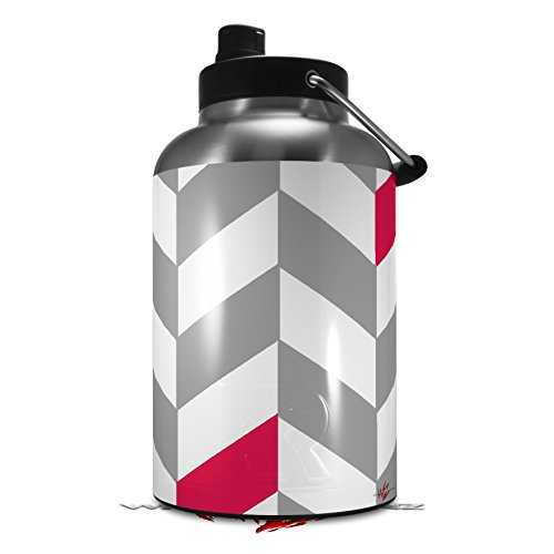- Skin Decal Wrap for 2017 RTIC One Gallon Jug Chevrons Gray And Raspberry (Jug NOT INCLUDED) by WraptorSkinz