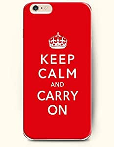 iPhone Case,OOFIT iPhone 6 Plus (5.5) Hard Case **NEW** Case with the Design of keep calm and carry on - Case for Apple iPhone iPhone 6 (5.5) (2014) Verizon, AT&T Sprint, T-mobile