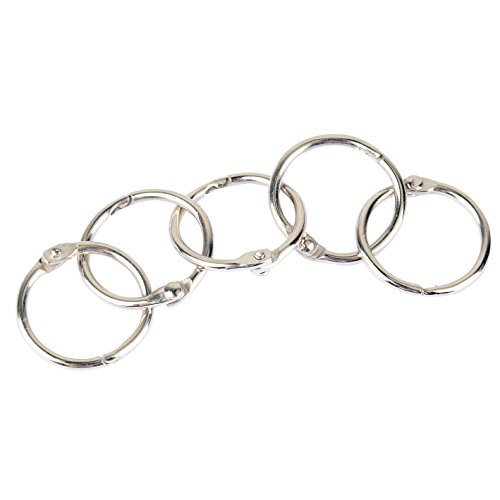 pawfly 1 inch small loose leaf binder rings book ring  50