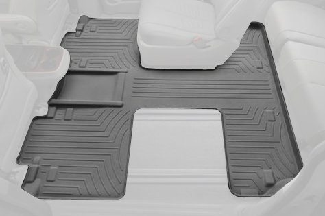 463004 Gray WeatherTech Rear FloorLiner for Select Toyota Sienna Models