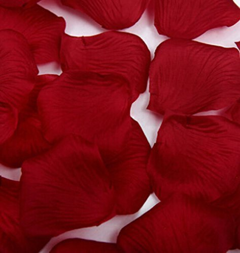 - Liroyal 1000 Pcs Heart Shaped Red Rose Petals,Wine red